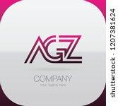logo letter combinations a  g... | Shutterstock .eps vector #1207381624