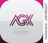 logo letter combinations a  g... | Shutterstock .eps vector #1207381627