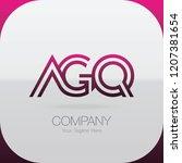 logo letter combinations a  g... | Shutterstock .eps vector #1207381654