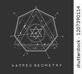 esoteric sacred geometry vector ... | Shutterstock .eps vector #1207390114