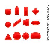 red labels and stickers set | Shutterstock . vector #120740647