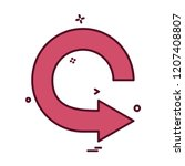 arrows icon design vector | Shutterstock .eps vector #1207408807