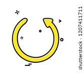 arrows icon design vector | Shutterstock .eps vector #1207411711