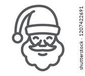 santa claus line icon ... | Shutterstock .eps vector #1207422691