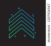 up arrow icon design vector | Shutterstock .eps vector #1207426567