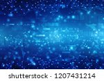 digital abstract technology... | Shutterstock . vector #1207431214