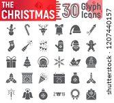 christmas glyph icon set  new... | Shutterstock .eps vector #1207440157