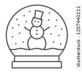 snow globe thin line icon ... | Shutterstock .eps vector #1207440211