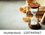 sand running through the... | Shutterstock . vector #1207445467