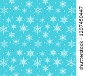 merry christmas. snow flake... | Shutterstock .eps vector #1207450447