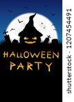 halloween background.halloween... | Shutterstock . vector #1207454491