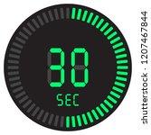 the digital timer 30 seconds....   Shutterstock .eps vector #1207467844