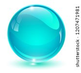 glass sphere  blue 3d vector... | Shutterstock .eps vector #1207471981