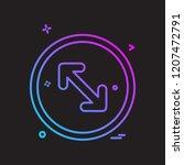 arrows icon design vector | Shutterstock .eps vector #1207472791
