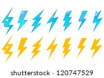 lightning icons and symbols set ... | Shutterstock .eps vector #120747529
