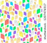 vector colorful isometric... | Shutterstock .eps vector #1207476517