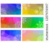 vector rumpled triangular... | Shutterstock .eps vector #1207476547