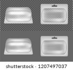 transparent oval plastic... | Shutterstock .eps vector #1207497037