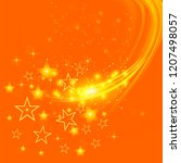vector set of different stars... | Shutterstock .eps vector #1207498057