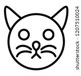 a cat face known as cat tattoo... | Shutterstock .eps vector #1207510024