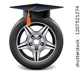 vector car wheel with square...   Shutterstock .eps vector #1207521274