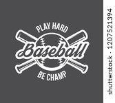 vector illustration of baseball ... | Shutterstock .eps vector #1207521394