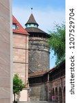 koenigstor in nuremberg | Shutterstock . vector #1207529704