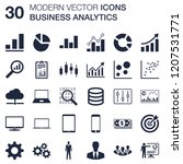 business analytics icons set ...