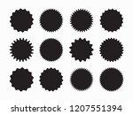 set of starburst  sunburst... | Shutterstock .eps vector #1207551394