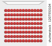 cinema theater hall.  top view  ... | Shutterstock .eps vector #1207553104