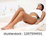 woman having hair removal... | Shutterstock . vector #1207554931