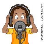 illustration of a kid girl... | Shutterstock .eps vector #1207568794