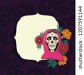 day of the dead frame   Shutterstock .eps vector #1207591144