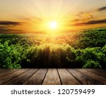 Stock photo wood textured backgrounds in a room interior on the autumn forest backgrounds 120759499