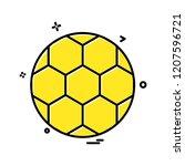 sports icon design vector | Shutterstock .eps vector #1207596721