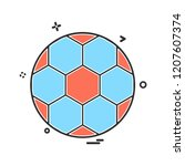 sports icon design vector | Shutterstock .eps vector #1207607374