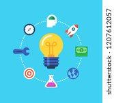 business idea  inovation. flat...   Shutterstock .eps vector #1207612057