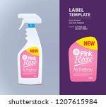 bottle label  package template... | Shutterstock .eps vector #1207615984