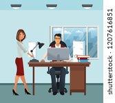 business characters in office... | Shutterstock .eps vector #1207616851