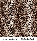 leopard skin texture pattern | Shutterstock . vector #1207646344