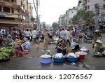 street trading in cholon ... | Shutterstock . vector #12076567
