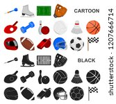 different kinds of sports... | Shutterstock .eps vector #1207666714