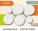 template for photo collage or... | Shutterstock .eps vector #1207671304