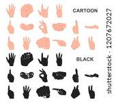hand gesture cartoon icons in...   Shutterstock .eps vector #1207672027
