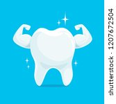 strong muscle healthy tooth... | Shutterstock .eps vector #1207672504