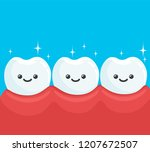 funny health and clean teeth... | Shutterstock .eps vector #1207672507
