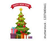 christmas concept christmas... | Shutterstock .eps vector #1207680661