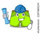 architect cartoon sport fashion ... | Shutterstock .eps vector #1207683214