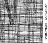 plaid fabric scraps. distressed ... | Shutterstock .eps vector #1207684654