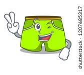 two finger cartoon sport... | Shutterstock .eps vector #1207685317